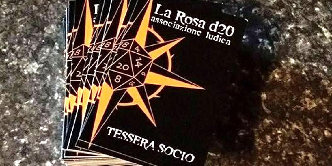 Tessere socio La Rosa d20