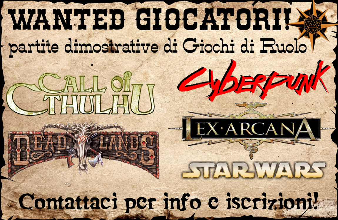 Wanted Giocatori di Ruolo!